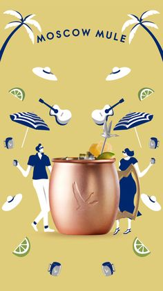 Celebrate the long weekend with a refreshing Moscow Mule. Ads Creative, Creative Advertising, Advertising Design, Design Poster, Ad Design, Winter Drink, Packaging Design, Branding Design, Animation