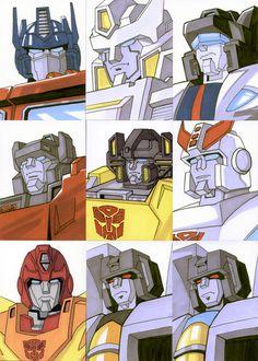 Sketch Cards - Transformers 2 by AJSabino on DeviantArt Transformers Characters, Transformers Optimus Prime, Original Transformers, Transformers Memes, Nova Era, Drawing Expressions, Super Robot, Retro, Anime