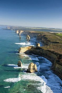 The Twelve Apostles, Great Ocean Road, Victoria, Australia. We have done this trip from Adelaide to Melbourne along the Great Ocean Road - beautiful scenery ~ Places To Travel, Places To See, The Places Youll Go, Travel Destinations, Vacation Places, Travel Deals, Travel Gifts, Places Around The World, Around The Worlds