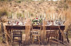 so dreamy - a table full of candles!