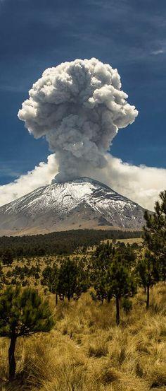 Popocatepetl volcano, Puebla, #Mexico