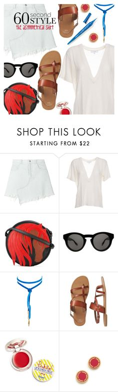 """Go Asymmetric"" by stacey-lynne ❤ liked on Polyvore featuring Sandy Liang, IRO, Just Cavalli, Givenchy, Vanessa Mooney, Gap, Supergoop!, Marc Jacobs and L.A. Girl"