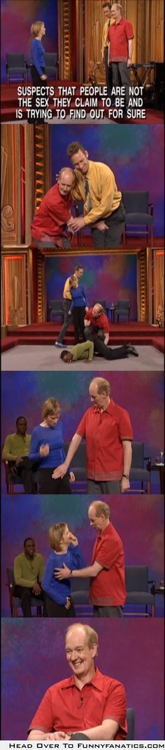 Just another day for Colin Mochrie on Whose Line