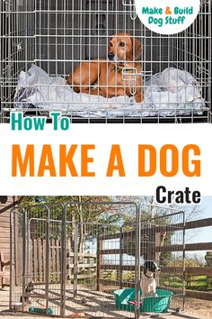 Want to save some money and make your own dog crate? Check out our easy to follow crate building instructions. #DIYdog #Dog #DogFun #DogIdeas #DogCrate #DogHouse Make Build, How To Make, Diy Dog Crate, Dog Beds, Best Dogs, Crates, Money, Building, Check