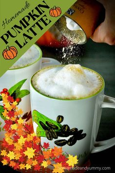Homemade Pumpkin Latte is perfect for Fall. Made with pumpkin puree not flavoured syrup. #pumpkinlatte #pumpkinspicelatte #homemadepumpkinspicelatte #pumpkin #pumpkinrecipes Pumpkin Latte Recipe, Homemade Pumpkin Spice Latte, Pumpkin Spice Coffee, Pumpkin Recipes, Fall Recipes, Pumpkin Puree, Cranberry Recipes, Thanksgiving Recipes, Pumpkin Cookies