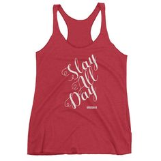 Slay all day fitness tanks fitness tanks for women fitness tanks funny  fitness tanks motivational fitness tanks for women funny dog tank top