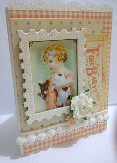 Baby card using Graphic 45 'Little Darlings' collection by Marilyn M