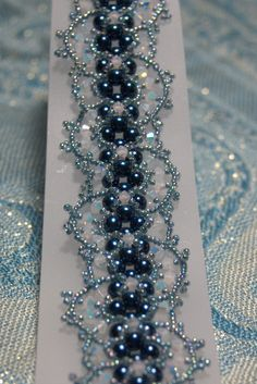 beautiful bead work in blue grey                                                                                                                                                      Mais