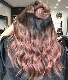33 trendy ombre hair color ideas of 2019 in 2020 (With images) Blonde Ombre Hair, Pink Hair Dye, Hair Dye Colors, Dye My Hair, Ombre Hair Color, Grey Balayage, Balayage Hair, Rose Gold Balayage, Cabelo Rose Gold