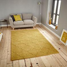 Hong kong rugs hk8385 in yellow buy online from the rug seller uk