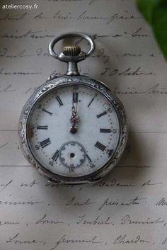 Ancienne montre à gousset  Brocante de charme atelier cosy.fr