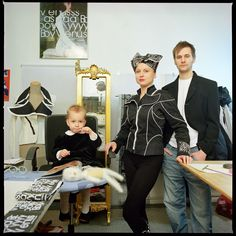 And this isn't her family either.   A Photographer Has Been Doing A Series Where She Puts Herself Into Other Families
