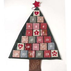 Fabric Christmas Tree Advent Calendar The perfect size to fill with treats on the countdown to Christmas.A perfect traditional decoration to use year after year! Fabric Advent Calendar, Christmas Tree Advent Calendar, Christmas Countdown, Days To Christmas, Christmas Crafts, Christmas Decorations, Christmas Ideas, Santa Christmas, Family Christmas