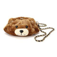 Women Cute Bear Bags Girls Cartoon Chain Shoulder Bags Crossbody Bags aa9d8d2e14c37