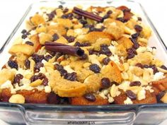 capirotada (mexican bread pudding) this is my ultimate fav mex dessert! can be an Easter tradition too COMO ROSA! Authentic Mexican Recipes, Mexican Food Recipes, Dessert Recipes, Mexican Desserts, Pudding Recipes, Hispanic Desserts, Mexican Candy, Mexican Holiday, Baking Desserts