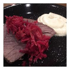 A little dinner at the sisters. Gosh I love other people cooking delicious keto meals for me. Here we have some roast beef with @wildbrine red beet and cabbage sauerkraut salad and a side of cauliflower purée which blew my mind! @ketocareerwoman really hit a home run with this one! - Inspirational and Motivational Ketogenic Diet Pins - Eat Keto Get Into Nutritional Ketosis - Discover LCHF to Prevent Diseases - Enjoy Low-Carb High-Fat Lifestyle For Better Health