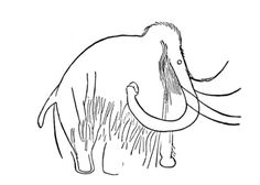 Cave Art Mammoth Coloring page