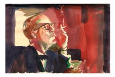 Capote sketchbook by Roni Kane