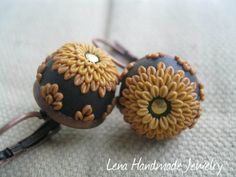 Sunny Gold Earrings by Lena Handmade Jewelry by StoriesMadeByHands, $48.00