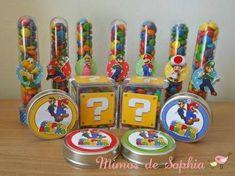 Resultado de imagem para tubete mario Super Mario Bros, Super Mario Birthday, Mario Birthday Party, 5th Birthday Party Ideas, Super Mario Party, Kid Party Favors, Candy Party, Mario E Luigi, Twins 1st Birthdays