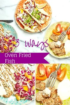 Oven Fried Fish 3 Ways A recipe for all the kids. No need to make special dinners for each child. Just make the fish and present it 3 different ways.