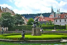 One of the prettiest places to see was the Wallenstein Garden, which was literally hidden between buildings in Prague.  It was full of fountains, Greek statues and roaming peacocks!