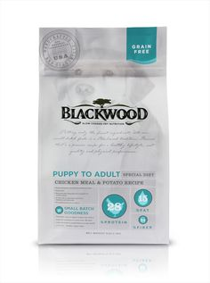 Blackwood Dog Food on Behance Potato Recipes, Dog Food Recipes, Chicken Recipes, Food Packaging, Packaging Ideas, Sprouting Seeds, Animal Nutrition, Pet Treats, Grain Free