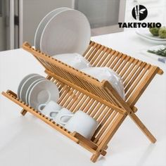 TakeTokio Bamboo Dish Drainer