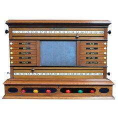 Antique Billiard - Snooker - Pool Scoreboard   From a unique collection of antique and modern sports at https://www.1stdibs.com/furniture/more-furniture-collectibles/sports/