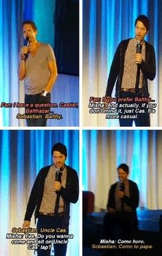 Balthy and Uncle Cas | Sebastian Roche and Misha Collins