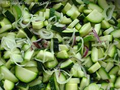 Koekje van eigen deeg: Courgette in zoetzuur Sprouts, Paleo, Food And Drink, Healthy Recipes, Vegetables, Trees, Canning, Zucchini, Salads