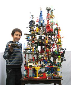 I wonder if he's the kind of kid who glues his Lego creations together for permanence. Lego Tower of Chaos