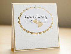 Handmade personalised golden wedding anniversary card 50th 50