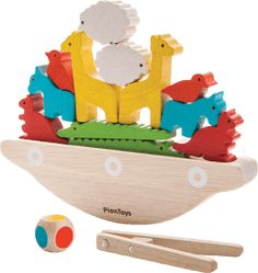 Boat Plans - Plan Toys Balancing Boat - Master Boat Builder with 31 Years of Experience Finally Releases Archive Of 518 Illustrated, Step-By-Step Boat Plans Eco Brand, Baby Accessoires, Plan Toys, Shop Plans, Boat Plans, Wooden Boats, Motor Skills, Little Ones, Giraffes
