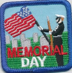 Girl Boy Cub Memorial Day Cemetary Fun Patches Crests Badges Scout Guides Iron | eBay