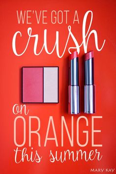 It's not too late to try out the hottest color of the season! Go for a Mary Kay® Mineral Cheek Color Duo in Spiced Poppy and True Dimensions® Lipstick in Citrus Flirt & Color Me Coral to bring the heat! | Mary Kay