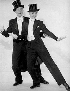 Audrey Hepburn and Marcel Le Bon in a publicity photograph-1949