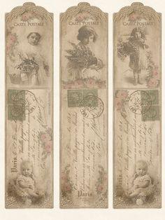 Boekenleggers/Bookmarks - JanetK.Design Free digital vintage stuff