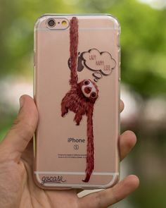 Sometimes I dream of being a sloth [AVAILABLE FOR IPHONE SAMSUNG & MOTO G3] Link in bio for more by: @bereviento. Phone case by Gocase www.shop-gocase.com