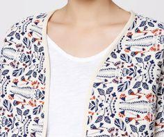 Reversible print jacket - OYSHO