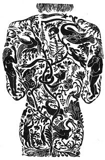 """Pictures from an Old Book: """"The Second Virago Book Of Fairy Tales"""", edited by Angela Carter, illustrations by Corinna Sargood (published by Virago Press Ltd, London Creative Writing Inspiration, Angela Carter, Fairytale Art, Vintage Type, Adam And Eve, Linocut Prints, Creative Art, Book Art, Fairy Tales"""
