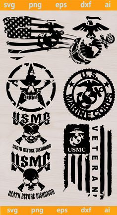 You Will Receive: Clip Art can be used with Cricut and Silhouette Cameo cutting machines, as well as other cutting machines that can read formats Marine Corps Tattoos, Marine Corps Shirts, Marine Corps Emblem, Us Marine Corps, Usmc Emblem, Once A Marine, Marine Mom, Marines Logo, Police Officer Gifts