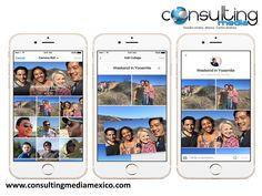 """LA MEJOR AGENCIA DIGITAL. Facebook cambia la forma de compartir experiencias con nuevas funciones. La herramienta """"Collage"""" permite agrupar videos y fotografías mientras que la red social trabaja en transmisiones en tiempo real. La herramienta está disponible para usuarios de iPhone y para Android estará lista a principios del año próximo www.consultingmediamexico.com"""