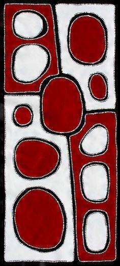 Aboriginal Art Painting by Sally Clark X Indigenous Australian Art, Indigenous Art, Aboriginal Painting, Dot Painting, Encaustic Painting, Tribal Patterns, Textile Artists, Tribal Art, Fabric Art