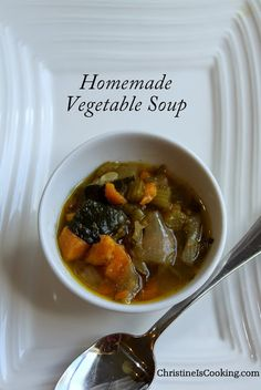 Basic Vegetable Soup Recipe you can modify for whatever veggies you ...