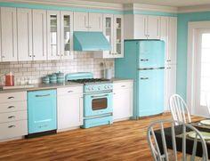 Frigoriferi anni 50 - Cucina con frigo vintage