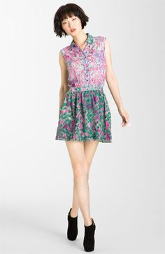 Gryphon 'Mimi' Print Chiffon Minidress available at Nordstrom