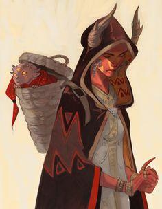 "phobso: "" Sketch-concepts of demons, ''Demonslayer'' comics """
