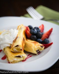 You don't need a fancy crepe maker to make delicious and perfect crepes for breakfast! Check out this video recipe for Crepes with a sweet Cheese filling. The ultimate breakfast treat!   NatashasKitchen.com
