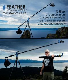 The Feather Camera Crane: Lightweight Travel Jib for Adventure Filmmakers - http://blog.planet5d.com/2014/11/the-feather-camera-crane-lightweight-travel-jib-for-adventure-filmmakers/